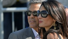 Amal Alamuddin looks absolutely stunning in her wedding gown.
