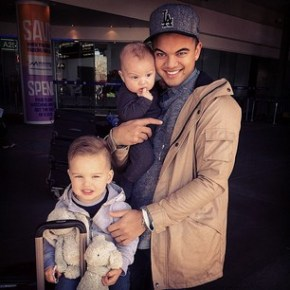 Guy Sebastian's Father's Day picture.