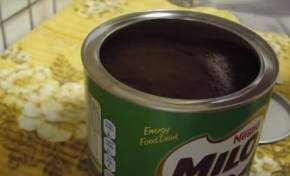 You've been doing it wrong: Opening a tin of Milo.