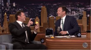 Hugh Jackman just smiled and gave Jimmy Fallon a Vegemite sandwich.