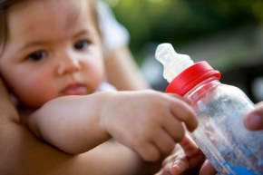 A mum shamed for bottle feeding her baby.