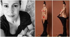 Alyssa Milano questions Kim Kardashian's booty cover.