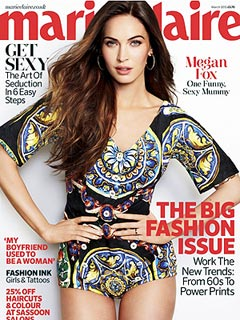 Megan on the cover of Marie Claire UK