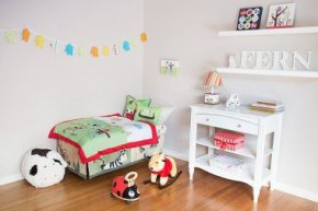 "How to upgrade your toddler's room from nursery to ""big kid"" bedroom."