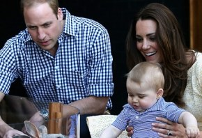 "Prince George: ""Look mum, no hands."""