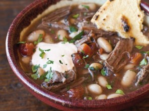 Short Rib Stew with Paprika Sour Cream