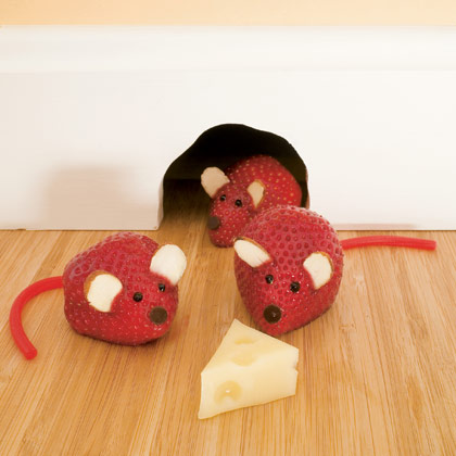 Strawberry Mice, fun snacks for kids