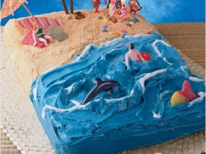 How to make a surfer birthday cake