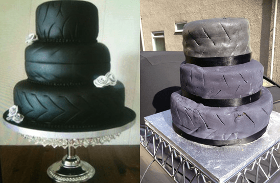 Bride shares spectacular wedding cake fail on eBay