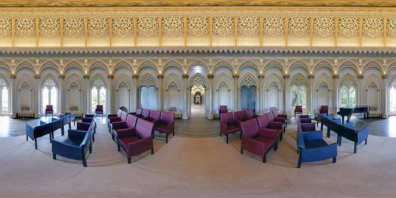 Music Room, Monserrate Palace, Sintra, Portugal