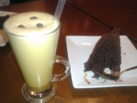 Nutella Cake and Iced Capp