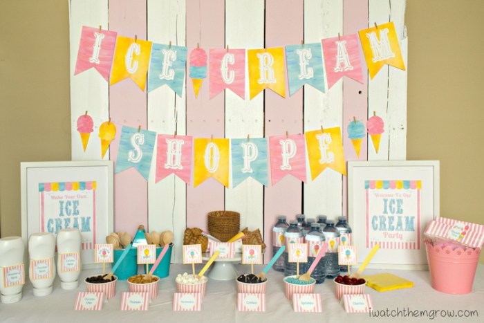 What a pretty ice cream birthday party! You have to read the post, she tells you exactly how to do it and gives some good tips too!