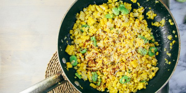 Sautéed Corn & Fava Beans with Parmesan   I Will Not Eat Oysters