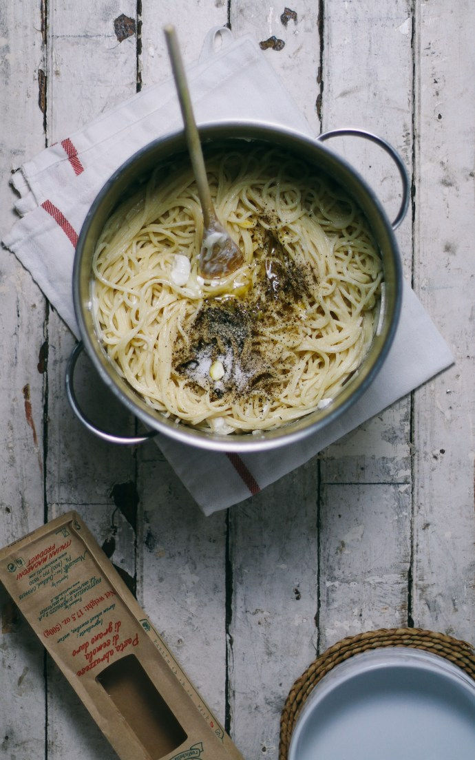 Mom's Cacio e Pepe with Feta Cheese | I Will Not Eat Oysters