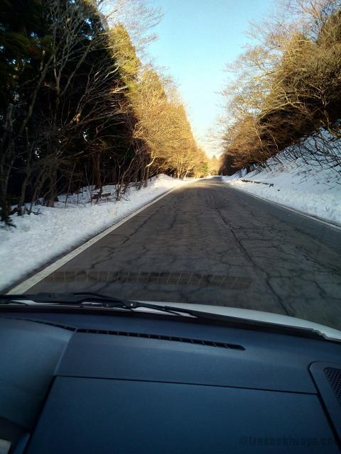 天城高原の雪