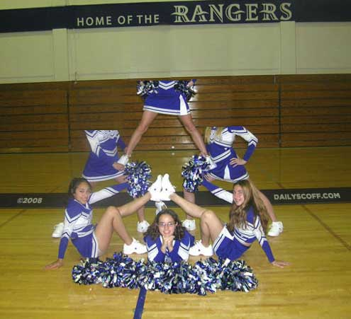 Political Satire: High School Cheerleaders posing topless c/o Gravelle's DailyScoff.com ... just turn your head and scoff