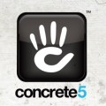 concrete5 logo general english