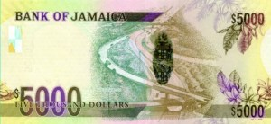 Jamaican 5000 dollar bill, Jamaican money