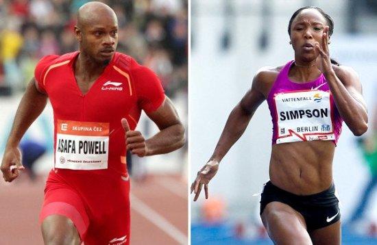 Asafa Powell, Sherone Simpson drug case WADA
