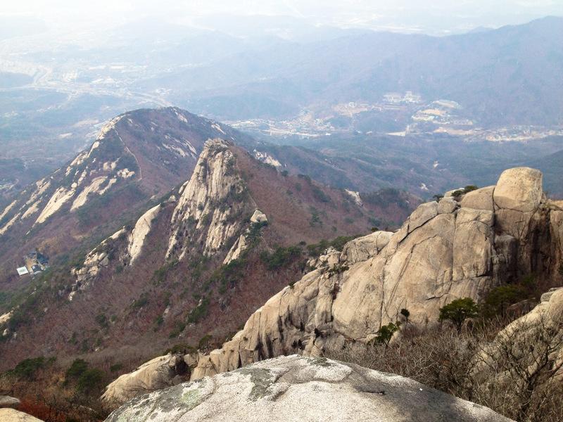 Climbing Seoul's Bukhansan Mountain