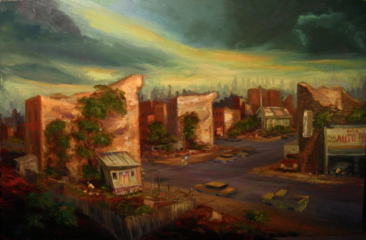 "Casita, South Bronx, oil on canvas, 34x48"", 1997"