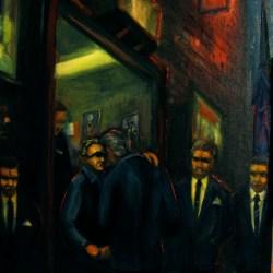"Kiss of Death 2, 1987, oil on panel, 18x14"""