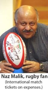 Naz Malik rugby fan