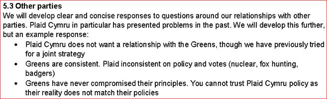 Greens no Plaid deal