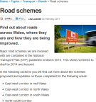 Welsh Government roads