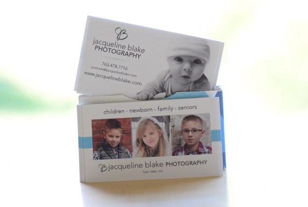 Jacqueline Blake Photography Business Cards