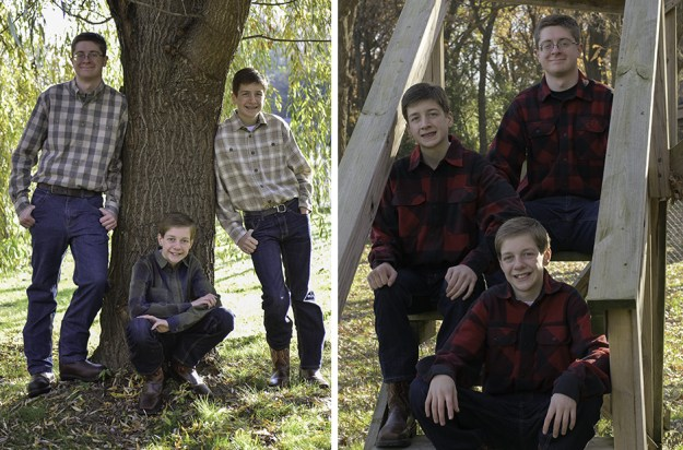 brothers, family portrait, photographer, ramsey, ham lake, photography studio, minneapolis, mn