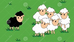 http://www.dreamstime.com/royalty-free-stock-image-black-white-sheep-black-sheep-different-alone-vector-illustration-image51112176