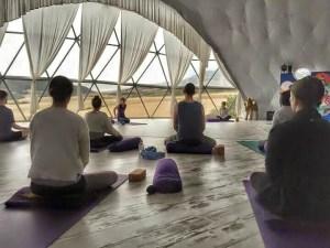 sceptical yoga teacher