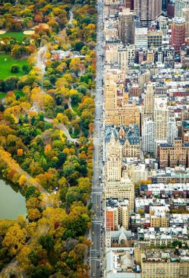 Pemandangan New York AS, dari udara (Brightside)