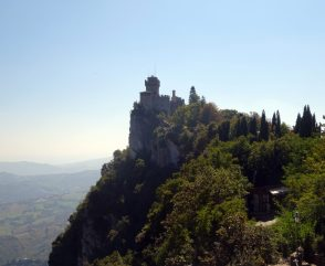 one of the towers in san marino