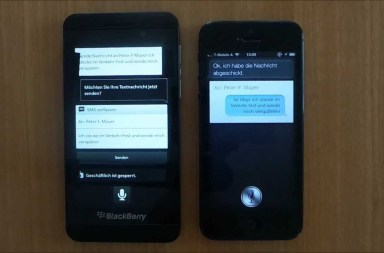 BlackBerry Z10 versus iPhone 5 Comparison Video 2013