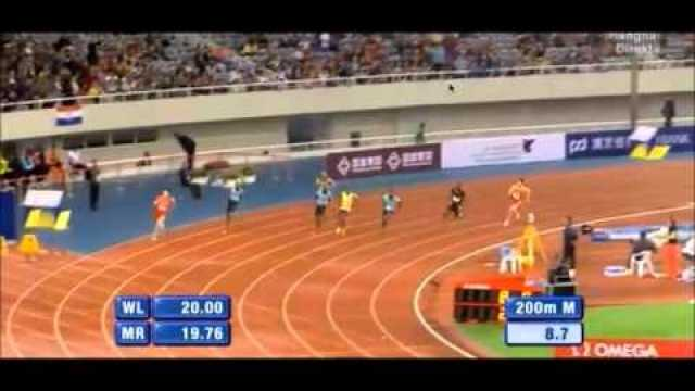 Warren Weir Beats Justin Gatlin Over 200m To Win in 20.14 Shanghai Grand Prix 2013