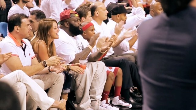 Rick Ross Courtside at Heat vs Bulls Game 2 of the NBA Playoffs