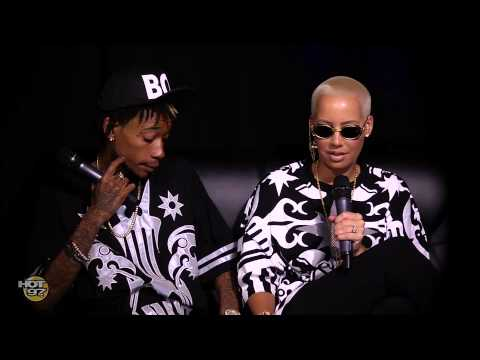 Amber Rose shows off Ring & Argues with Wiz Khalifa on The Angie Martinez Show