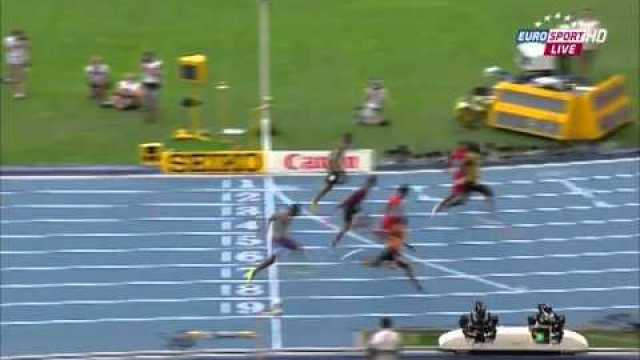 Usain Bolt 9.92Q Wins 100m Semi-Final 3 IAAF World Championships Moscow 2013