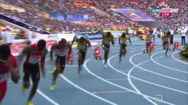 Usain Bolt 20.12Q wins mens 200m SemiFinal 2 IAAF World Champs 2013