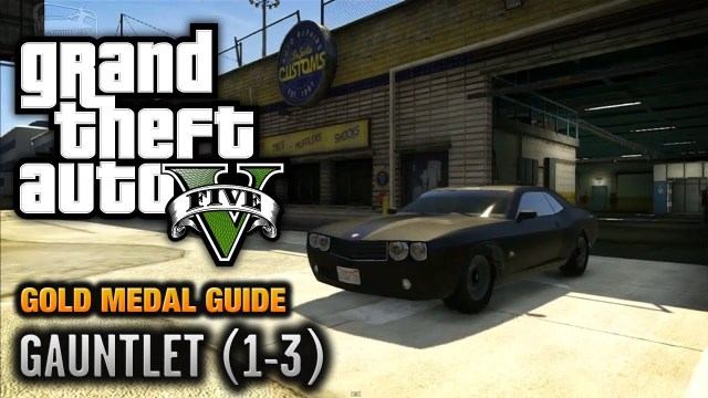GTA 5 – Mission #74 – Gauntlet (1-3) [100% Gold Medal Walkthrough]
