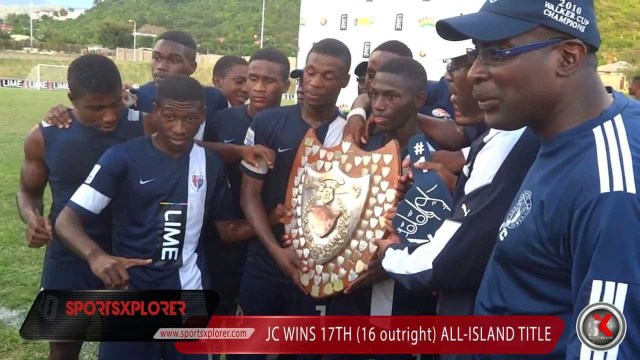 Jamaica College celebrate winning 2013 Olivier Shield (All-Island) title