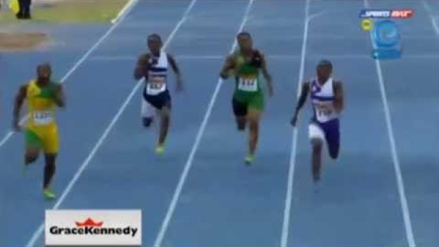 Jevaughn Matherson 20.97 wins Class 2 200m Final Boys & Girls Champs Jamaica 2014