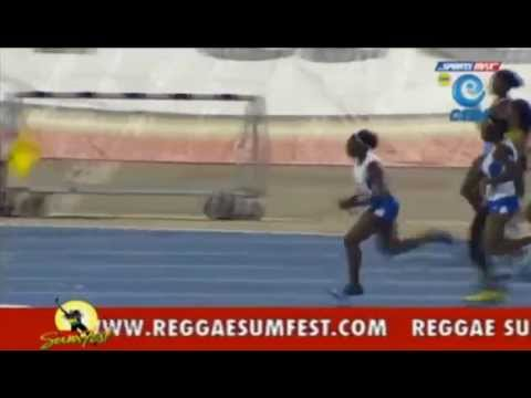 St Jago 47.28 wins Class 4 Girls New Record 4x100m Relay Champs 2014