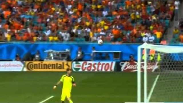 #WorldCup: All Goals and Highlights Spain vs Netherlands 1:5
