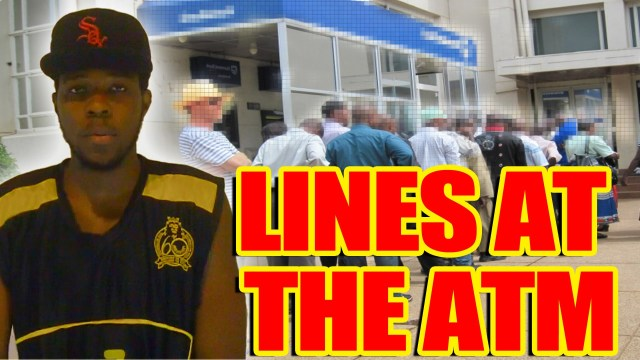 Lines At The ATM – @Kevin2wokrayzee