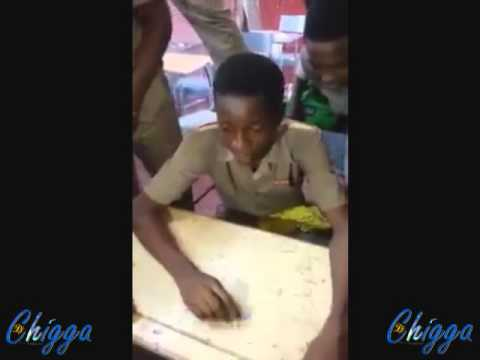 Jamaican School Boy Freestyling In Class