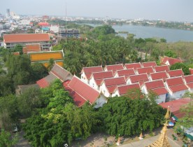View from the top of Khon Kaen temple. A nice slice of Issan