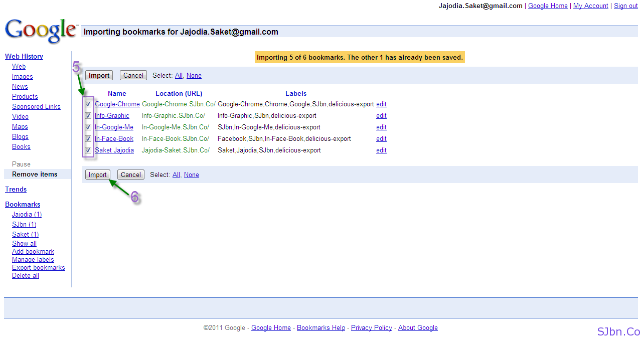 How To Export And Import Delicious Bookmarks To Google ...